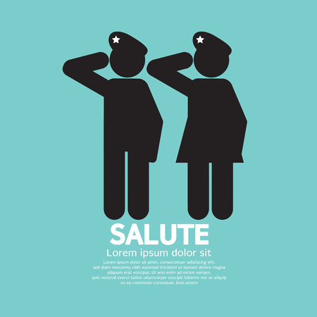 Foto per Man And Woman Gave The Salute Gesture Vector Illustration - Immagine Royalty Free