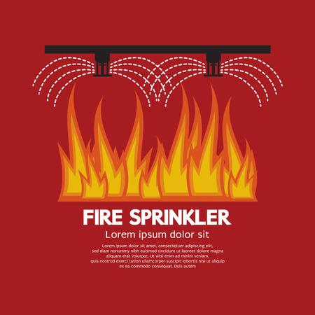 Fire Sprinkler Life Safety Vector Illustration