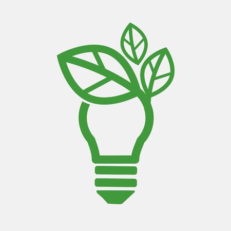 Illustration pour Green Concept Light Bulb Vector Illustration - image libre de droit
