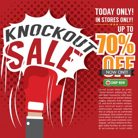 Knockout Sale Promotion Vector Illustration