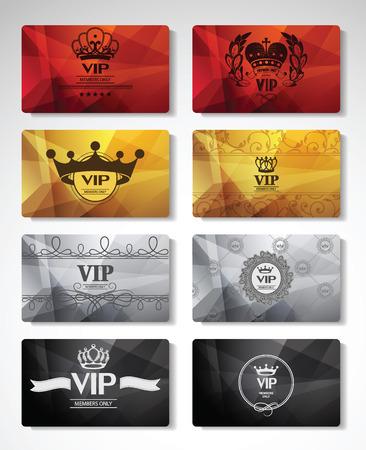 Illustration pour Big set of VIP cards - image libre de droit