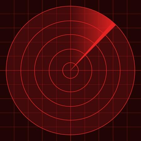 Illustration pour vector radar screen - image libre de droit