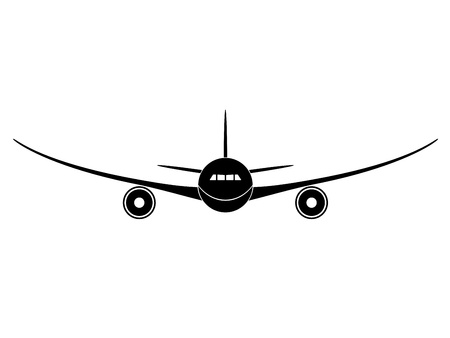 Illustration for vector aircraft - Royalty Free Image
