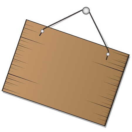 vector wood sign hanging