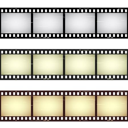 Illustration pour vector scratched seamless film strips - image libre de droit