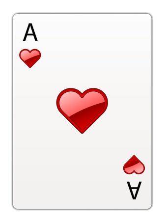 vector heart ace