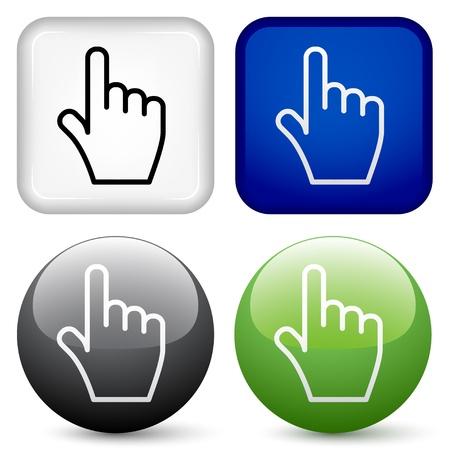 vector hand buttons
