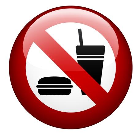 vector no food mark