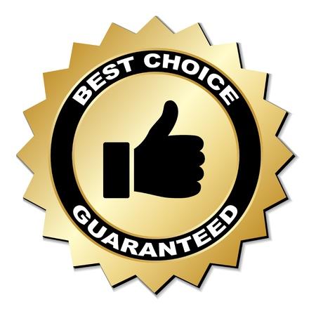 Illustration pour vector best choice guaranteed label - image libre de droit