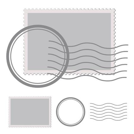 Illustration pour vector blank post stamp - image libre de droit