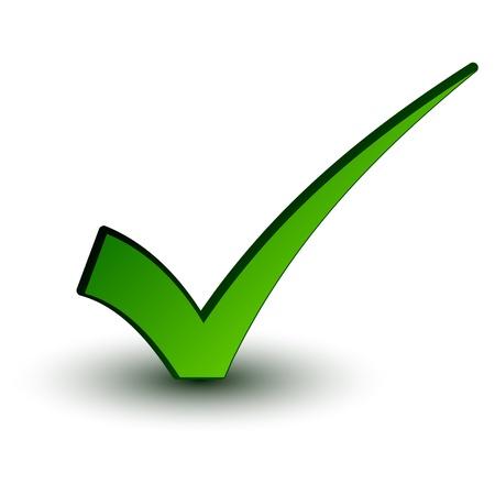 vector green positive checkmark