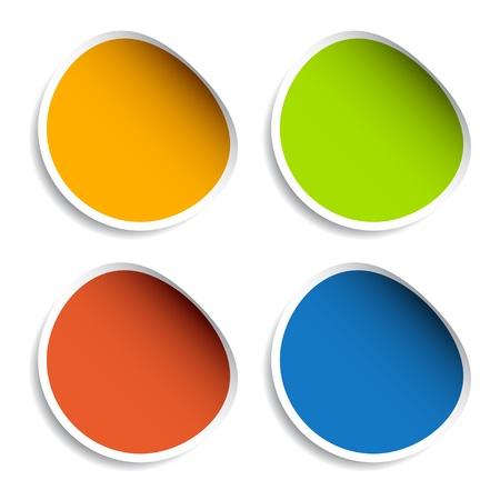 Illustration pour vector blank stickers - image libre de droit