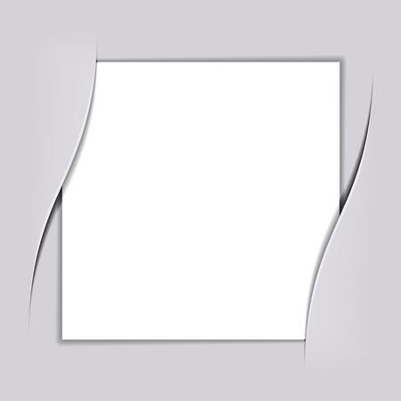 Illustration pour vector blank white square paper - image libre de droit