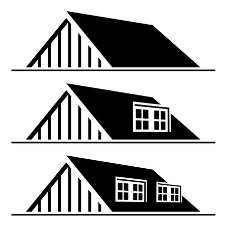 vector black house roof silhouette