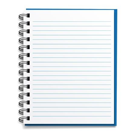 Illustration pour vector blank lined notebook - image libre de droit