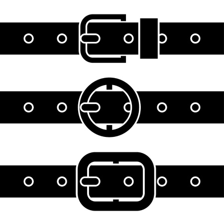 Buckle belt black symbols