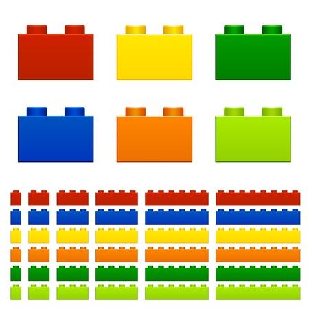 Ilustración de children plastic bricks toy - Imagen libre de derechos