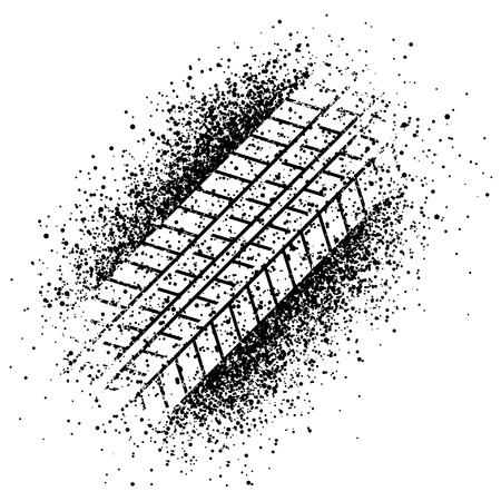 vector spray trace of the tyre