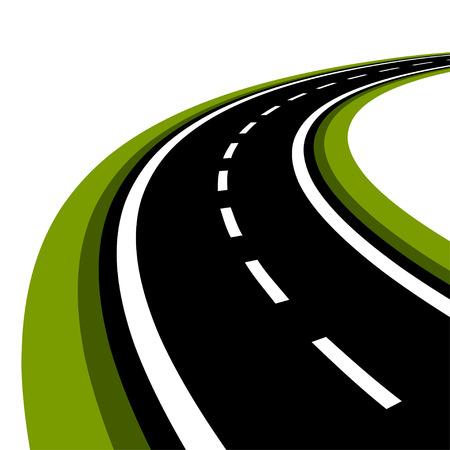 curved asphalt road