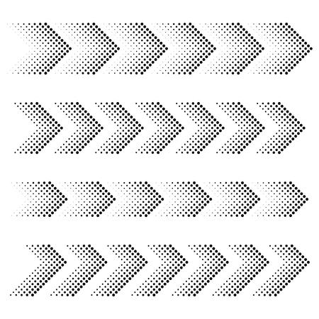 Ilustración de vector dotted arrow strip black symbols - Imagen libre de derechos
