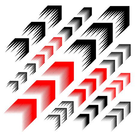 Illustration pour arrow motion line simple symbol vector - image libre de droit