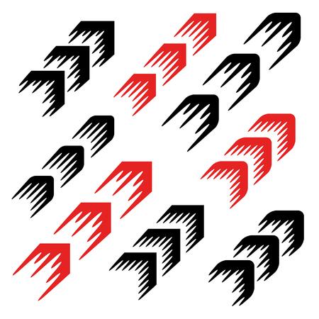 Illustration pour arrow motion line simple symbol - image libre de droit