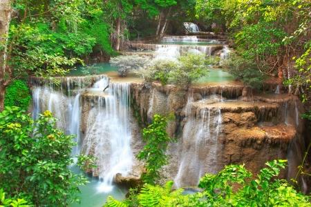 Huay mae kamin waterfall in Kanchanaburi Thailand