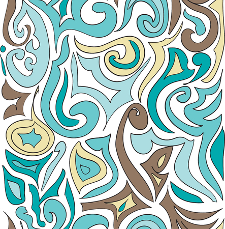 Vector seamless pattern ethnic style background. Vintage decorative texture for wallpapers, backgrounds and page fill.