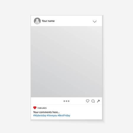 Ilustración de Creative vector illustration of social media photo prop frame isolated on background. Art design mockup. Abstract concept graphic element for your post - Imagen libre de derechos