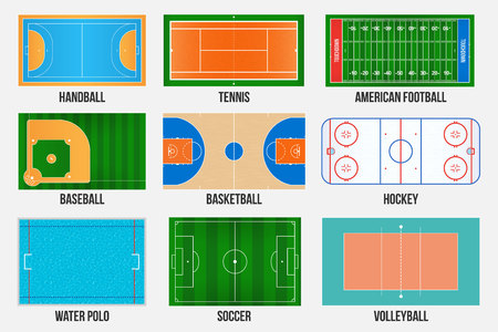 Creative vector illustration of sport game fields marking isolated on background.