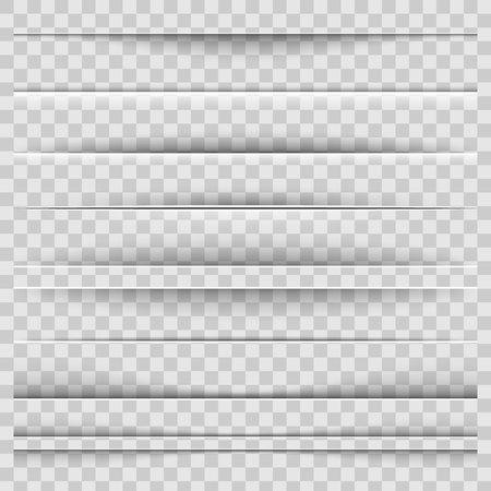 Ilustración de Creative vector illustration of realistic paper shadow dividers isolated on transparent background. Art design effect set. Abstract concept graphic element - Imagen libre de derechos