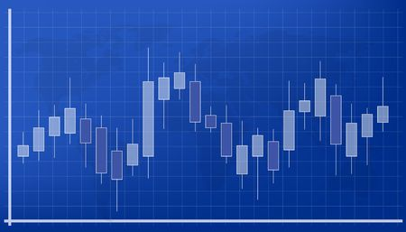 Illustration pour Creative vector illustration of forex trading diagram signals isolated on background. Buy, sell indicators with japanese candles pattern, exchange financial market graph. Candlestick chart element - image libre de droit