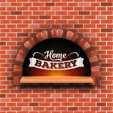 Illustration for Creative vector illustration of stone brick, pizza firewood oven with fire isolated on transparent background. Art design home bakery. Abstract concept graphic pizzeria restaurant, bread shop element. - Royalty Free Image