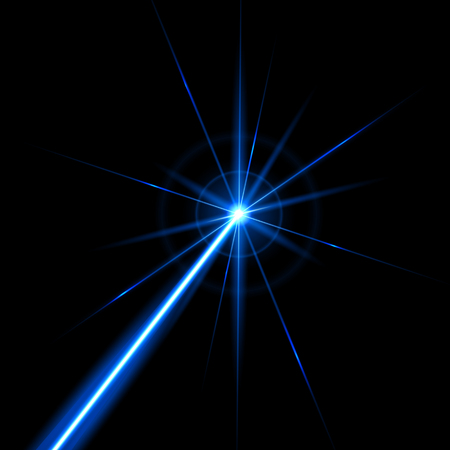 Photo for Creative illustration of laser security beam isolated on background. Art design shine light ray. Abstract concept graphic element of glow target flash neon line. - Royalty Free Image