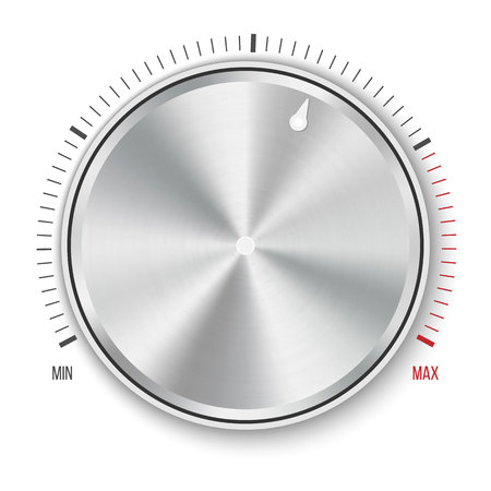 Photo for Creative illustration of dial knob level technology settings, music metal button with circular processing isolated on background. Sound control. Art design. Abstract concept graphic element. - Royalty Free Image