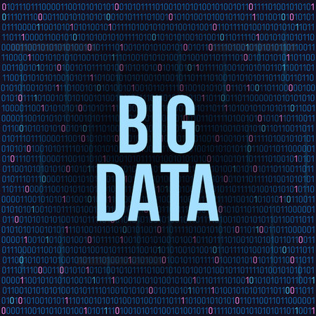 Photo pour Creative illustration of BIG DATA analysis of Information. Science and technology background. Web display screen art design. Abstract concept graphic element for visual future analyze code. - image libre de droit