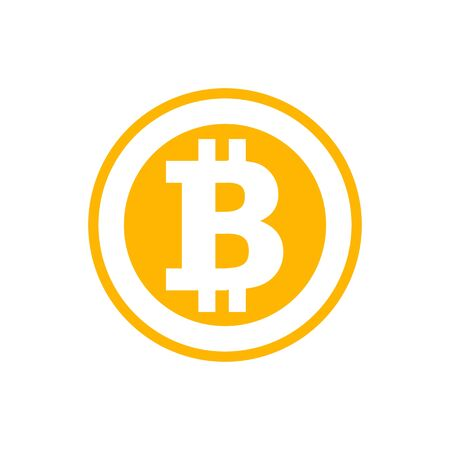 Illustration for Bitcoin symbol in flat style. Cryptocurrency  illustration - Royalty Free Image