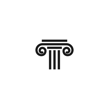 Attorney at law logo icon template vector element
