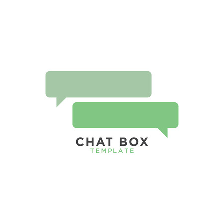 Illustration for Chat box graphic template - Royalty Free Image