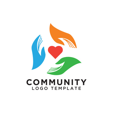 Illustration for Community organization logo design template vector eps10 - Royalty Free Image