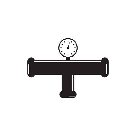 Illustration pour Pipe plumbing icon graphic design template vector illustration - image libre de droit