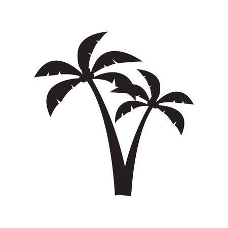 Illustration pour Palm tree graphic design template vector isolated - image libre de droit