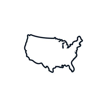 Illustration pour Usa map graphic design template vector isolated illustration - image libre de droit