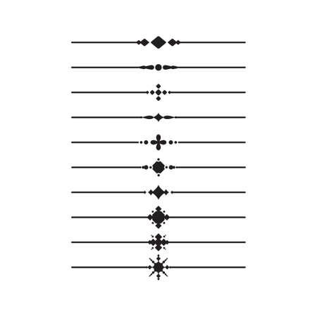 Ilustración de Decorative line ornament vector graphic design template - Imagen libre de derechos