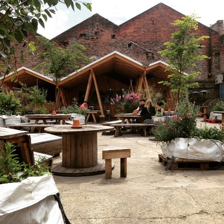Bar in Liverpool full of trees