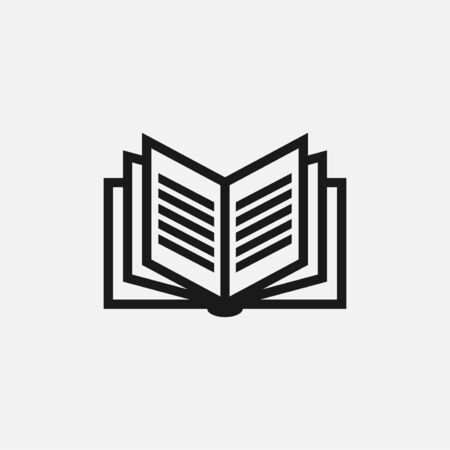 Illustration pour vector illustration of book. perfect for logo or icon education, publishing or magazine industry. simple flat color style - image libre de droit