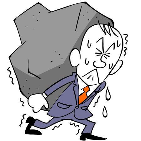 Businessman and burden