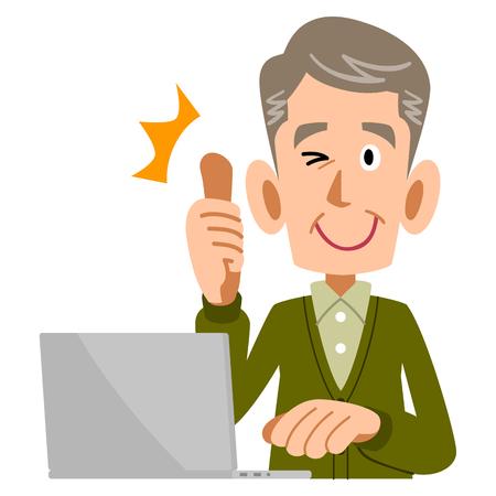 Illustration pour Some AP to elderly men with PC - image libre de droit