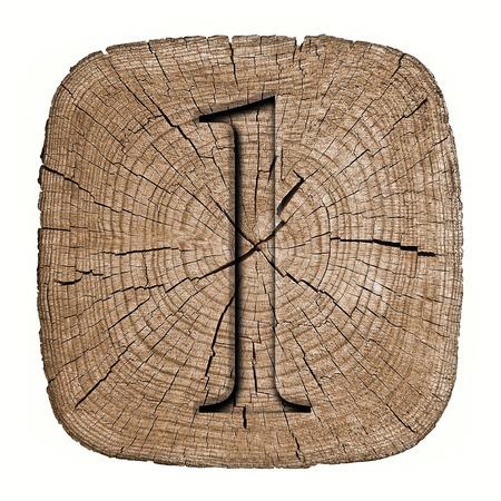 Wooden alphabet block, letter l