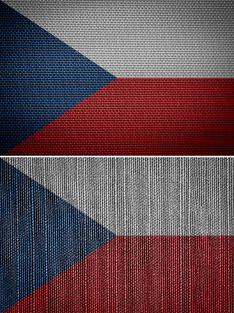 textile flag of the Czech Republic